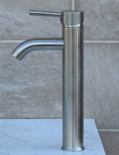 Bathroom Matte Black Ceramic Porcelain Vessel Vanity Sink 7811AMBN3 With Brushed Nickel Faucet and Pop Up Drain