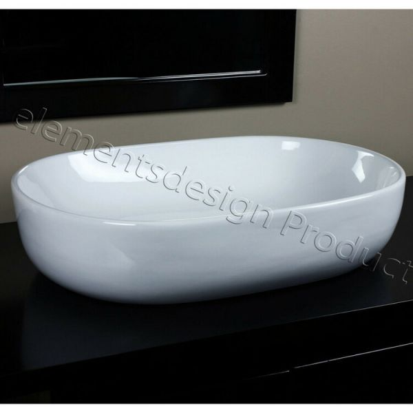 EliteMax CV7090 Bathroom Oval Ceramic Vessel Sink
